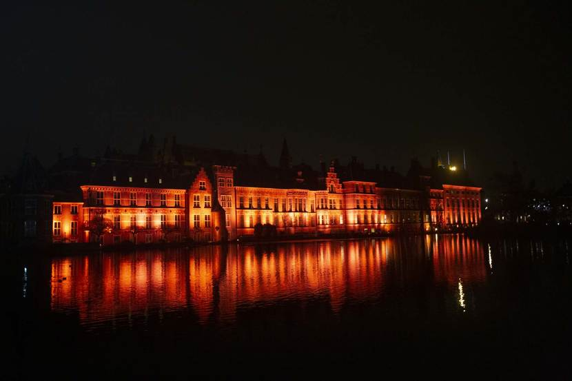 Orange the Word - Binnenhof verlicht