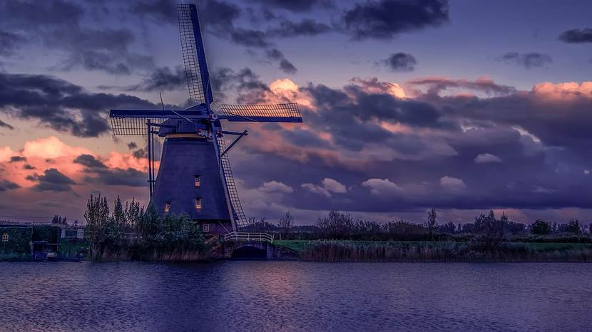 Netherlands Dutch windmill