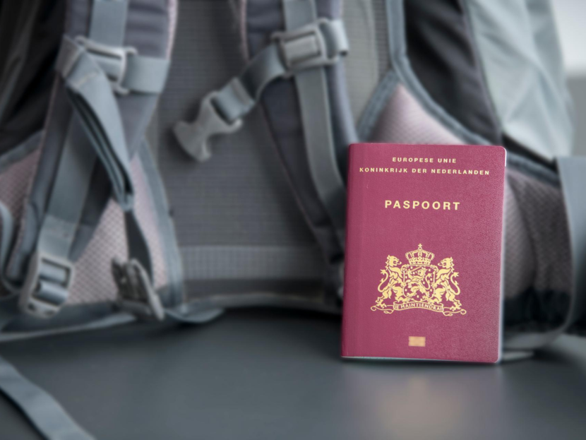 Passport and backpack