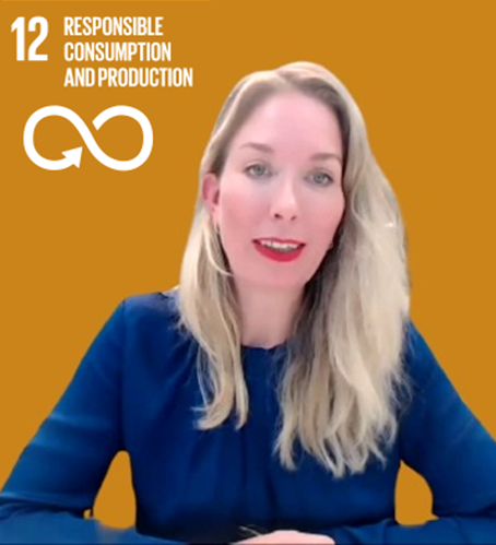 SDG 12: Responsible consumption and production represented by the Deputy Head of Mission Eva
