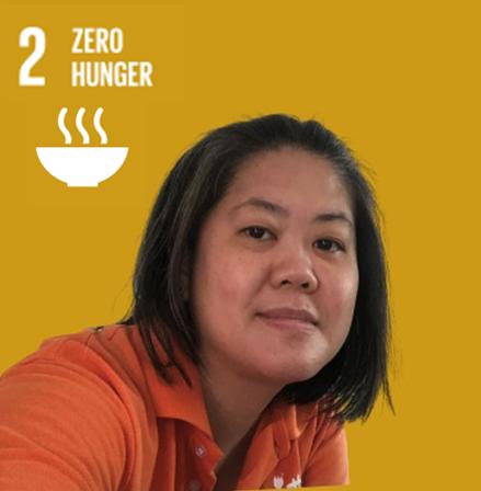 SDG 2: Zero hunger represented by employee Li Huan