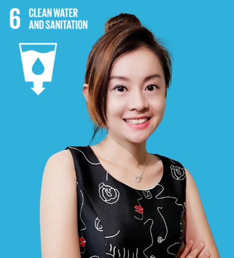 SDG 6: Drinking water and sanitation represented by employee Jasmine