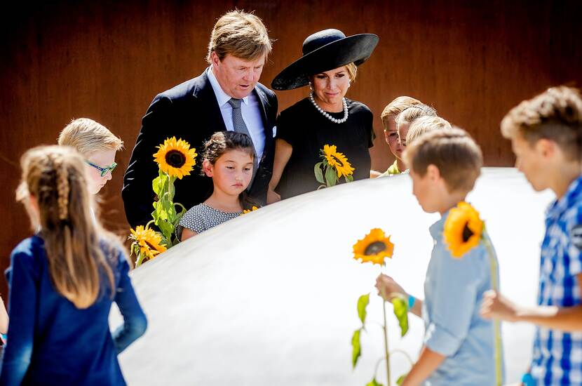 Original - National Monument MH17 - ANP - King Willem Alexander and Queen Maxima