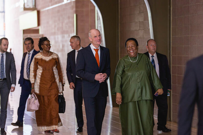 Minister Blok and Minister Pandor of South Africa during the JCC meeting in February 2020, DIRCO Pretoria