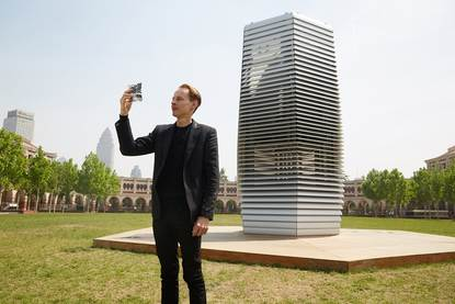 Smog Tower and Architect Roosegaarde